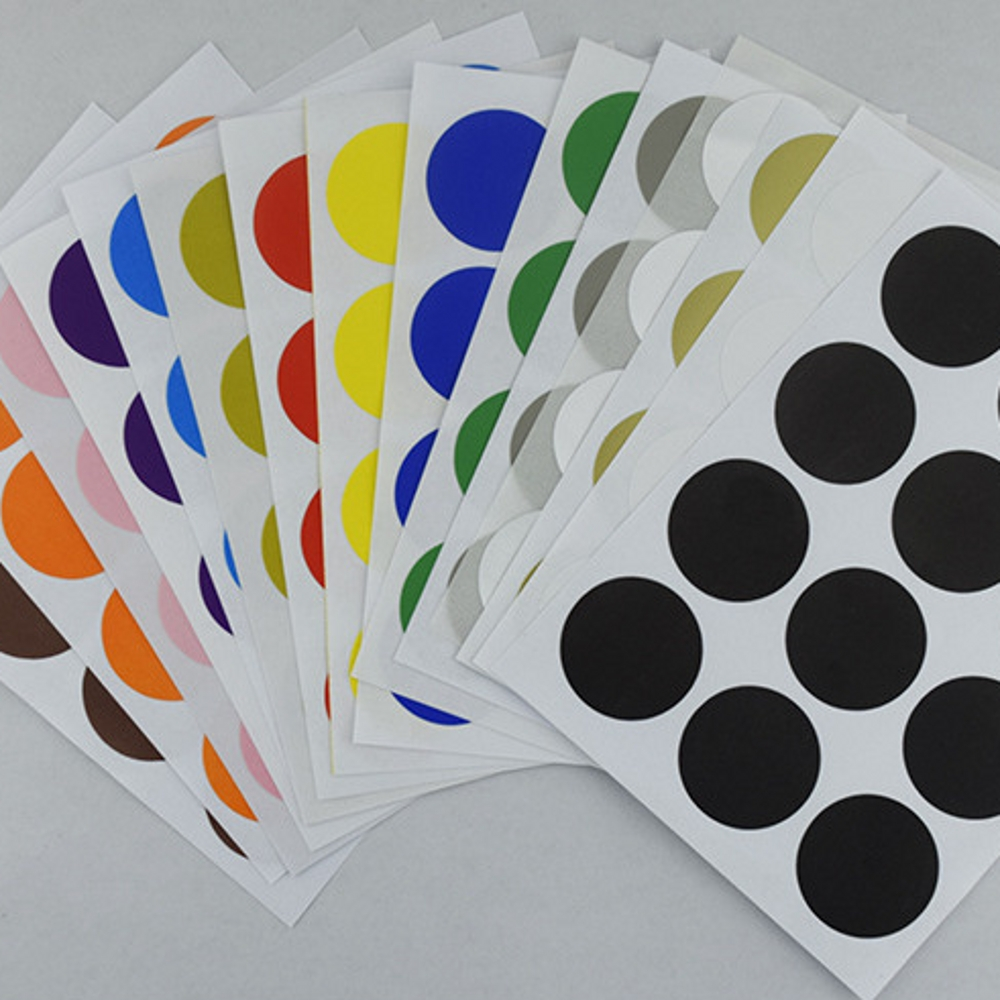 12Pcs/Lot Candy Color 25mm DIY Stickers Colorful Writing Round Circle Sticker Labels Dot Blank Self-adhesive Paper Tag Stickers