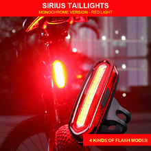 Bicycle Rear Light Cycling LED Taillight USB Rechargeable Waterproof MTB Road Bike Tail Lights Back Lamp Bicycle Accessories(China)