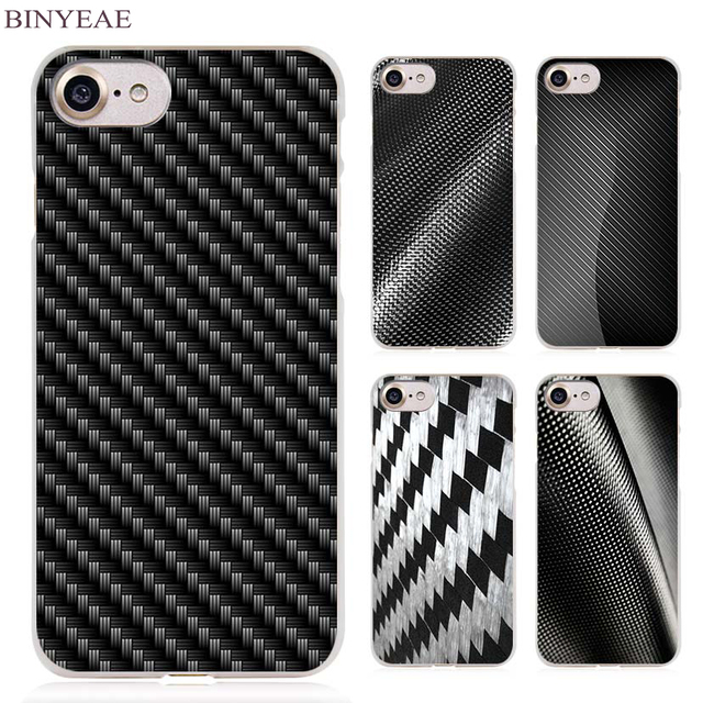 7e5fbec190ffe1 BINYEAE carbon fibre printing Clear Cell Phone Case Cover for Apple iPhone  4 4s 5 5s SE 5c 6 6s 7 7s Plus