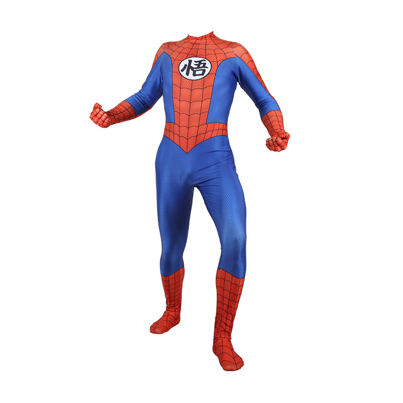 Lycra Naruto Spiderman Suit Zentai Cosplay Costumes for Man Kids Superhero Bodysuit Costume Cosplaycustomized Size