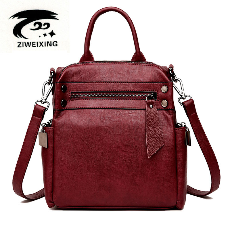 Women Backpack High Quality Leather Anti-theft School Bags For Teenagers Girls Multifunction Backpacks Herald Fashion Travel bag zhierna brand women bow backpacks pu leather backpack travel casual bags high quality girls school bag for teenagers