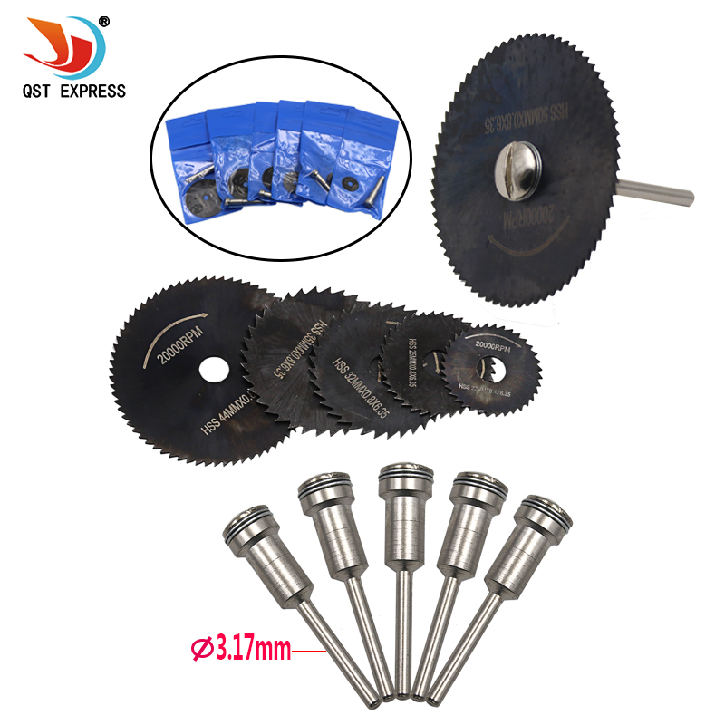 Mini HSS Circular Saw Blade Rotary Tool For Dremel Metal Cutter Power Tool Set Wood Cutting Discs Drill Mandrel Cutoff