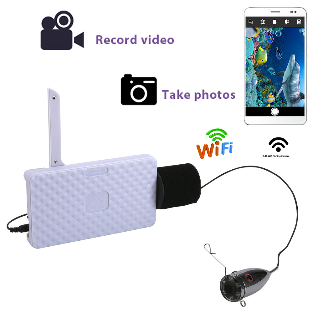 Stainless steel 720P Wifi Wireless 15M Underwater Fishing Camera Video Recording For IOS Android APP Supports Video Record
