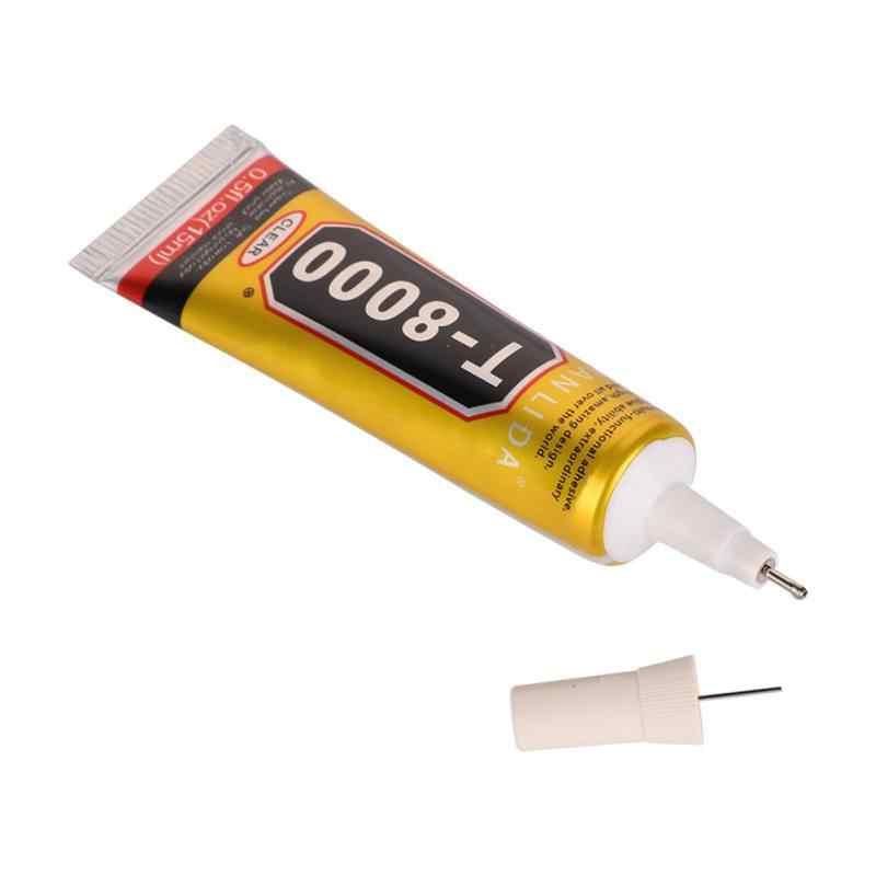 T8000 Keo Trong Suốt Keo Nhựa Dính Cho Kính Hoa Pha Lê Chất Vải Ren Gỗ Keo Dán Gỗ