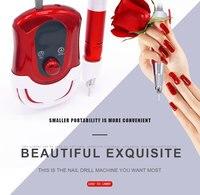 Red Professional Electric Nail Drill File Manicure Pedicure Polish Machine Pen Shape Pedicure Nail Polish Tool Feet Care Product
