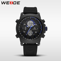 WEIDE Genuine luxury LCD sport Digital Male Watch Automatic watches silicon watch quartz Analog Waterproof Alarm Clock Men Saat