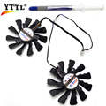 New 85mm Firstd DC 12V 0.35AMP 4Pin 4 Wire Cooling Fan For HIS 7950 7970 R9 270X 280X Graphics Video Card Cooler Fans