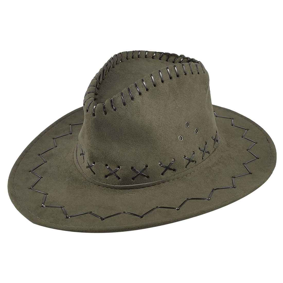 Detail Feedback Questions about Adjustable Chin Strap Faux Leather Cowboy  Hat Army Green for Man on Aliexpress.com  fb6d37e7da4