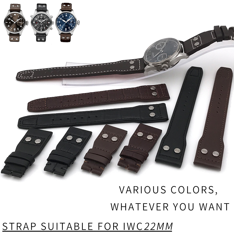 New Fashion Genuine LeatherWatch Strap Original Quality Watchband Special for IWC PILOT PORTUGIESER Watch Accessories20