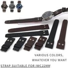 Новая мода из натуральной кожи ремешок оригинальное качество ремешок для часов специально для IWC PILOT PORTUGIESER часы Accessories20/21 мм