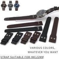 New Fashion Genuine LeatherWatch Strap Original Quality Watchband Special for IWC PILOT PORTUGIESER Watch Accessories20/21mm