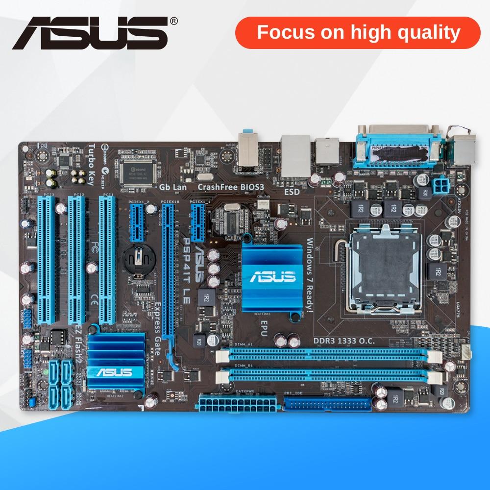 Asus P5P41T LE Desktop Motherboard G41 Socket LGA 775 DDR3 8G SATA2 USB2.0 ATX msi g41m p31 original used desktop motherboard g41 socket lga 775 ddr3 8g sata2 usb2 0 micro atx