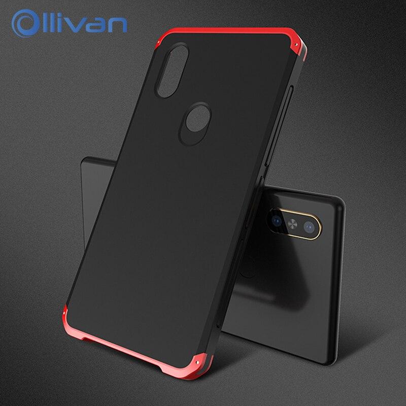 Ollivan Ultra Thin Metal Case for xiaomi MIX2S Redmi Note 5 Case Aluminum Metal Frame Hard PC Back Cover for Redmi Note5 fundas
