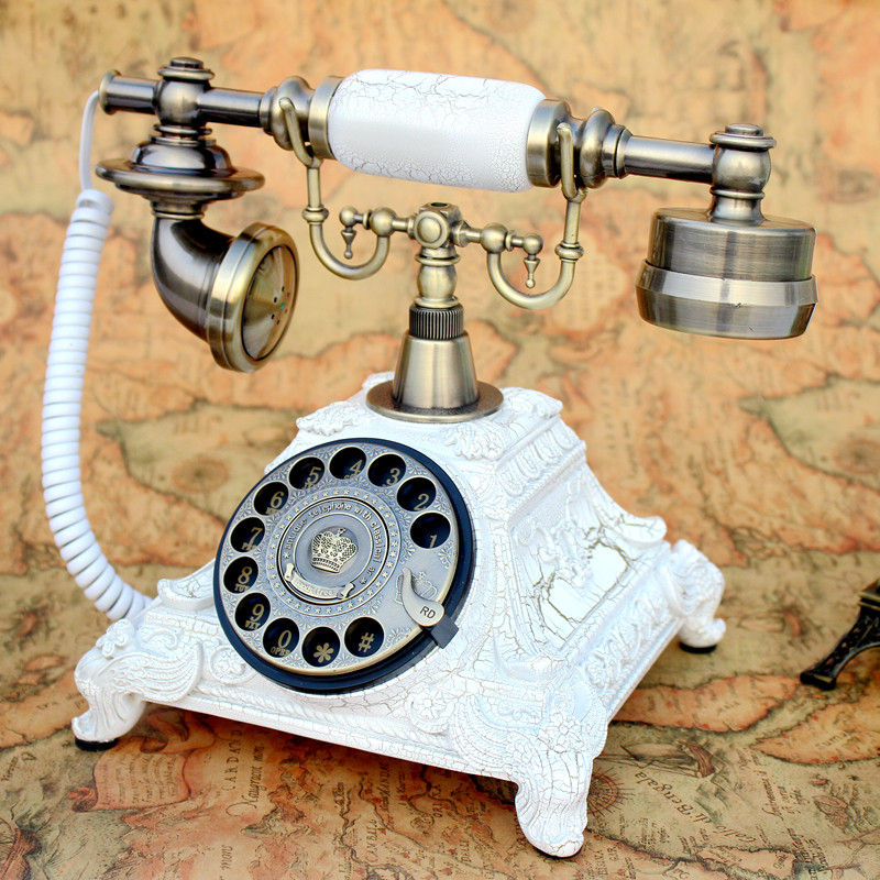 Antique telephone telephone dial rotating European style retro fashion home landline telephone corded phone ringing tones