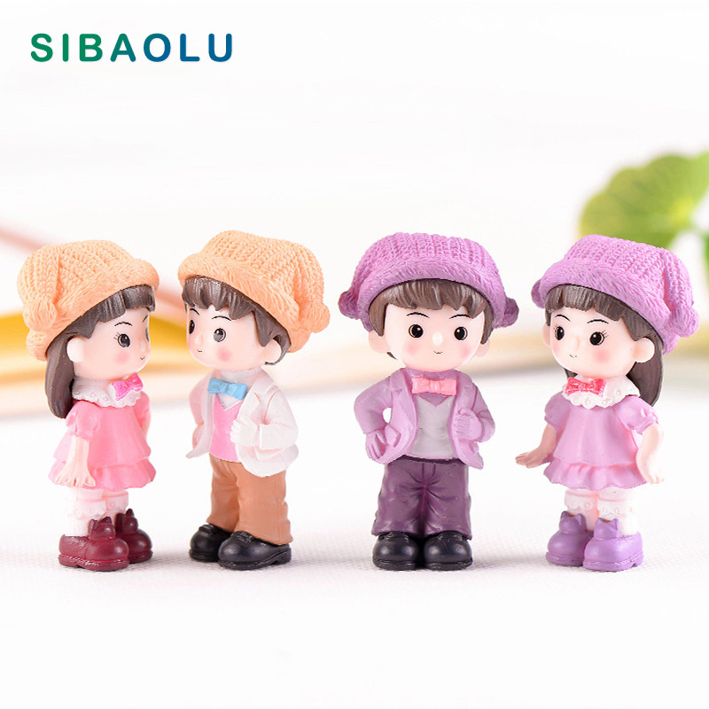 Action & Toy Figures Soldier Lover Figures Diy Toy Girl Boy Miniature Wedding Decoration Movie Character Birthday Cake Play House Doll Baby Gift