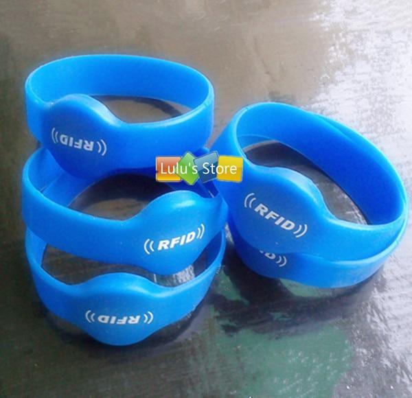 5pcs/lot  EM4100 125Khz RFID ID readable silicone wristband 5 125