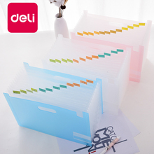 Deli 1PC Pockets 13 Grid Expanding File Folder A4 Organizer Portable Business File Office Supplies Document Holder Accordion Bag marble a4 13 layered expanding wallet big capacity filing bag document file folder multi function business office supplies bags