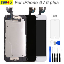 Full set screen For iPhone 6 6G 6 plus Screen LCD Replacement Display ,complete With Home Button Front Camera Speaker
