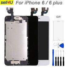 ชุดเต็มสำหรับ iPhone 6 6G 6 plus หน้าจอ LCD เปลี่ยนจอแสดงผล, complete ปุ่ม Home กล้องด้านหน้าลำโพง