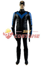 Batman: Arkham City Nightwing Richard John Dick Grayson Cosplay Costume Halloween Party For Boy Male Suit