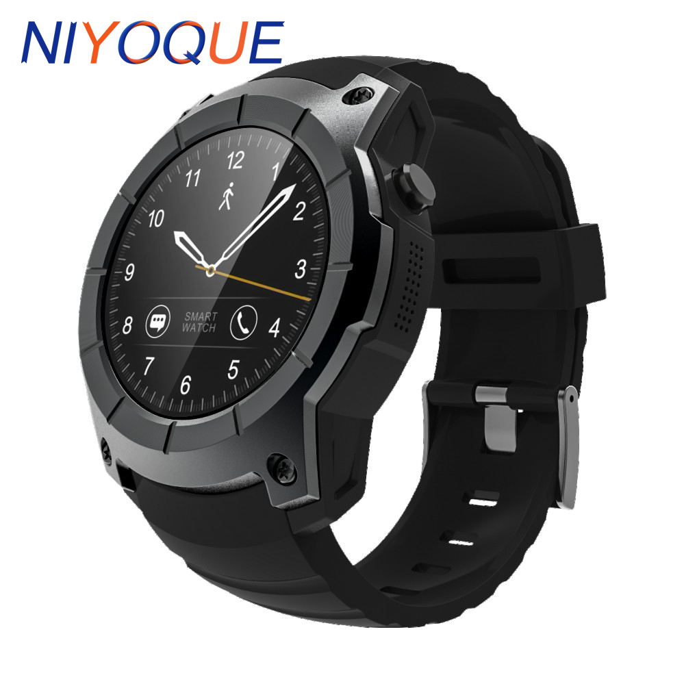 NIYOQUE Smart Watch S958 Sport Waterproof Heart Rate Monitor dial call GPS 2G SIM Card All Compatible Smartwatch For Android IOS 2017 new gps smart watch sport waterproof heart rate monitor dial call 2g sim card all compatible smartwatch for android ios
