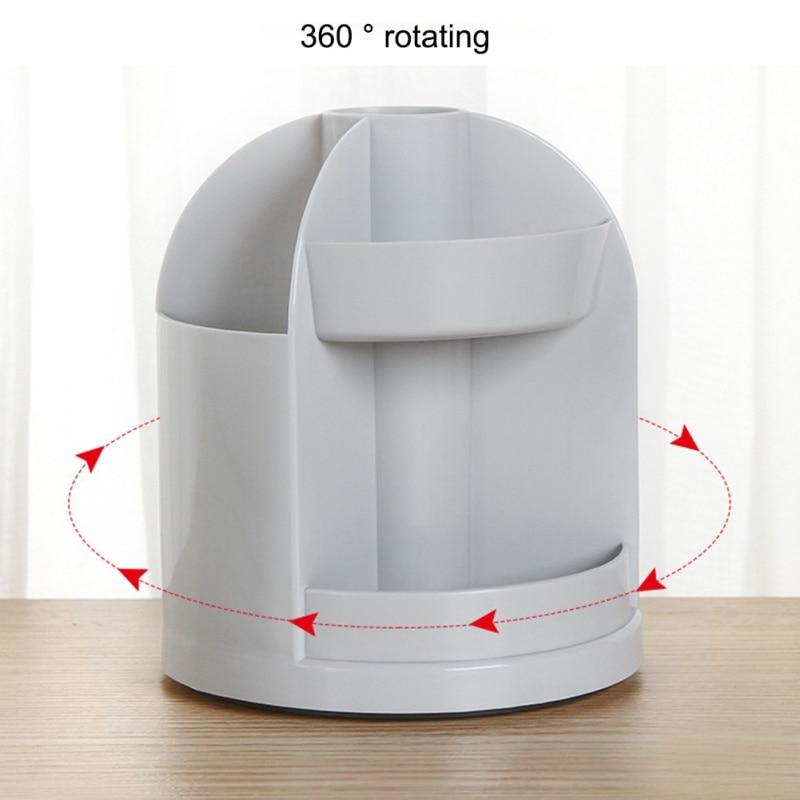 360-degree Jewelry Makeup Cosmetic Storage Box Rotating Organizer Brush Holder Case