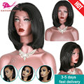 short bob synthetic lace front wigs heat resistant hair synthetic black wigs cheap lace front synthetic bob wigs for black woman