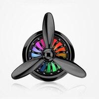 Моды автомобильный освежитель воздуха пропеллер моделирование розетка кондиционера зажим свежий аромат, цвет света