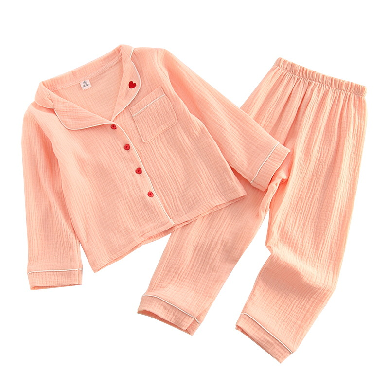 Children's wear boys and girls comfortable and breathable children love cotton and linen home service pajamas sleep pants set рубашка для беременных cotton and linen 2015