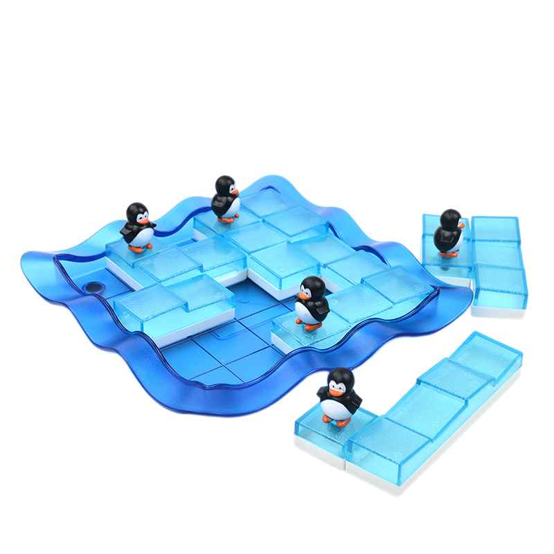 Educational Learning Game For Children With 60 Challenges Improve Kids' Thinking Ability Penguins On Ice