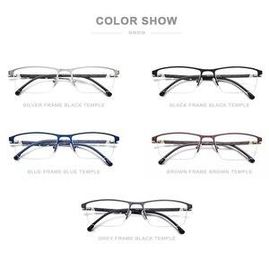 Image 5 - Legierung Gläser Rahmen Männer Ultraleicht Halben Platz Myopie Brillen 2019 Heißer Silikon Optische Rahmen Schraubenlose Brillen