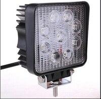 10 cái 5 Inch Vuông 27 Wát LED Công Việc Nhẹ Lamp Bar cho xe ô, 12 volt new 27 wát xe dẫn ánh sáng điều chỉnh/led làm việc ánh sáng cho offroad xe