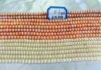 Trendy güzel hediye aaa 15 inch 5-6mm düz tatlısu shell pearls gevşek boncuklar yarı mamul kolye takı yapımı toptan fiyat