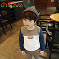 2016 New Autumn Spring Boys T-shirt Children Clothing Kids Boys Long Sleeve Hot Dog Soft Cotton Boys Sweater