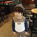 2016 Nova Primavera Outono Meninos T-shirt Roupas Para Crianças Crianças Meninos Manga Comprida Hot Dog Algodão Macio Meninos Camisola