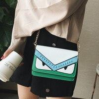 Famous Brand Women Messenger Bags Eye Design Monster Shoudler Bags Women Luxury Designer Chain Handbags Small