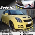 Bumper Lip Deflector Lips For Suzuki Swift Front Spoiler Skirt For Fans to Car View Tuning / Body Kit / Strip