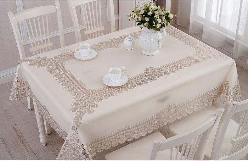 pvc vinyl tablecloth Picture More Detailed Picture about  : Geminbowl NEW waterproof home room table cover Wipe Clean PVC Vinyl Tablecloth Dining rectangle silver gold from www.aliexpress.com size 788 x 512 jpeg 214kB