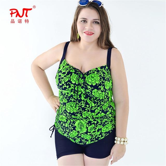 pnt121 tankini swimsuits women 2017 plus size tow piece biquini new