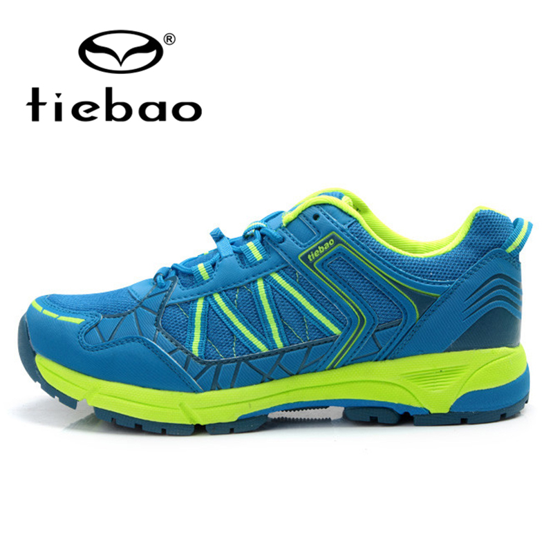 TIEBAO MTB Mountain Road Bike Athletic Shoes Breathable Bicycle Leisure Cycling Shoes Men Women Rubber Soles Self-Locking Shoes