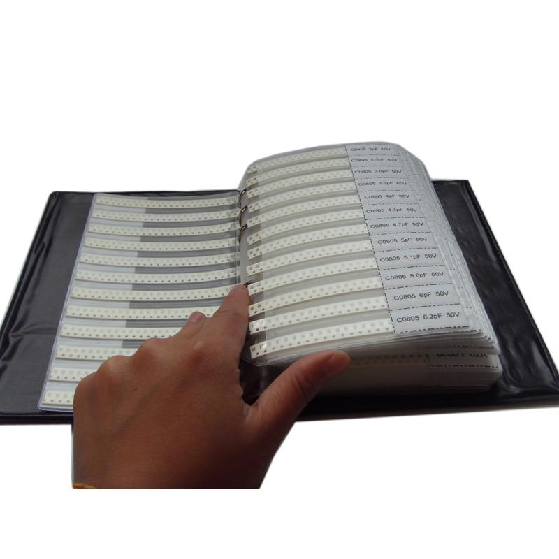 Бесплатная доставка 0805 SMD конденсатор 92valuesx25шт = 3220 шт + 1206 38valuesx25шт = 950 шт книга образцов