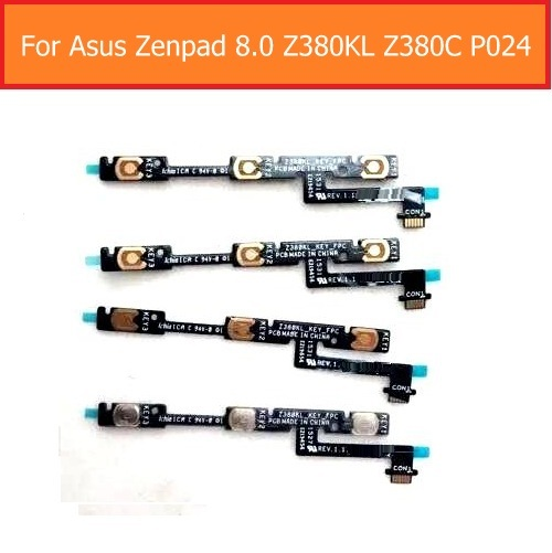 A+ Quality Switch On/off Power Flex Cable For Asus Zenpad Z380KL Z380C P024 Side Volume Up/low Flex Cable Silent Control Button