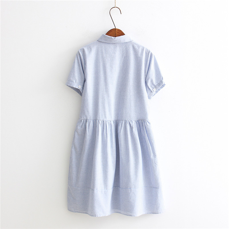 14f3ecf8fd25e Ubetoku 2018 Summer women strap dresses short sleeve cat embroidery pleated dresses  cute bow young women clothing-in Dresses from Women s Clothing on ...