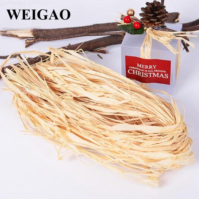 Weigao 10 根/バッグナチュラルラフィアロープ diy 工芸品結婚式のギフト invitaiton wraping 包装装飾の結婚式のパーティー用品