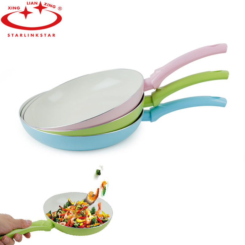 Aluminum Alloy Non-stick Pan Nanoscale Ceramic Coating Enivrnmental Protection Handle Heat Insulation Scald Kitchen Tool