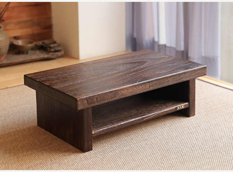 Wooden Coffee Table.Oriental Antique Furniture Design Japanese Floor Tea Table Small Size 60 35cm Living Room Wooden Coffee Tatami Low Table Wood