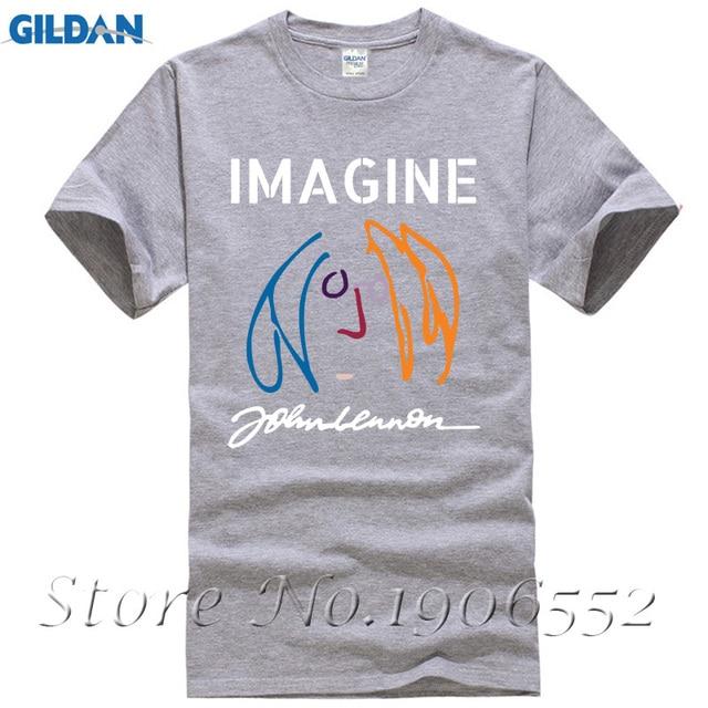 223c2857 Original Black John Lennon Men's T Shirt XXXL Short Sleeved Basic Graphic  Cotton Band Tee Young Adult Rock Album Imagine T-Shirt