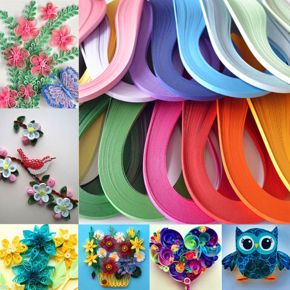 6 Colors Mixed Handcraft 3mm Origami Paper 120 Strips Quilling Paper DIY Home Decoration Craft Paper