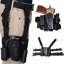 CQC Thigh 1911 Holster Military tactical Hunting Drop Leg for Gun Colt Holsters Black color RIght leg holsters