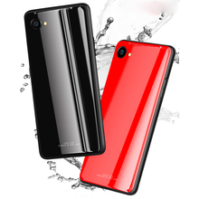 цена на Tempered Glass Case for OPPO F9 R17 Pro luxurious High Hardness Glass Back Cover For OPPO A37 A59 A39 A71 A83 Case Soft Border